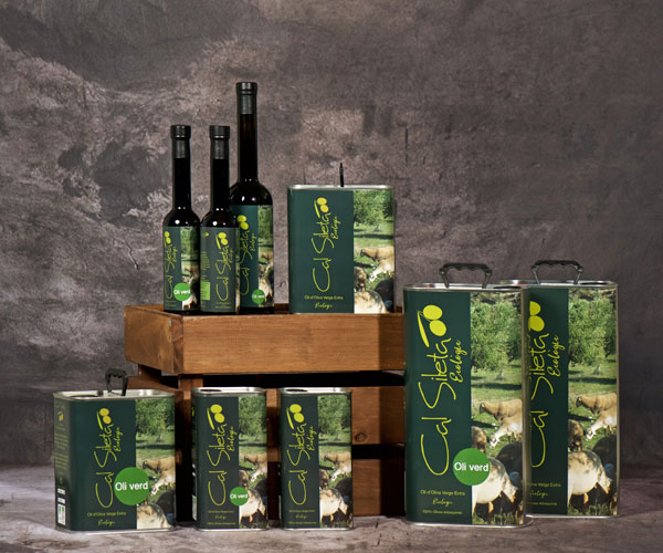 Organic green olive oil